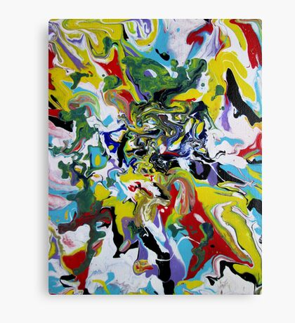 Fluid Painting #3 Abstract Canvas Print