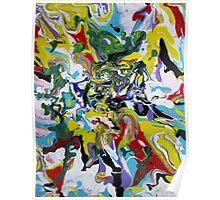 Fluid Painting #3 Abstract Poster