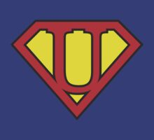 U letter in Superman style by Stock Image Folio