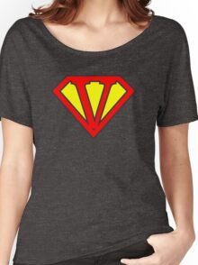 V letter in Superman style Women's Relaxed Fit T-Shirt