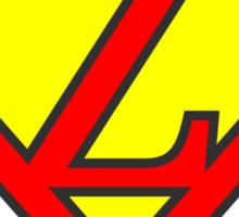 Z letter in Superman style Sticker