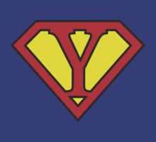 Y letter in Superman style by Stock Image Folio
