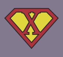 X letter in Superman style Kids Tee
