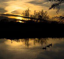 Flatford Mill Sunset by newbeltane