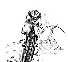 Mountain bike sheep by Merlin Currie