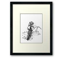 Mountain bike sheep Framed Print
