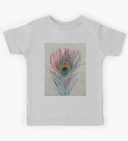 Peacock Feather Kids Tee