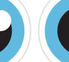 Two cartoon eyes with blue iris, stickers Sticker