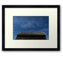 Little House On The Prairies #2: Heavy Skies Framed Print