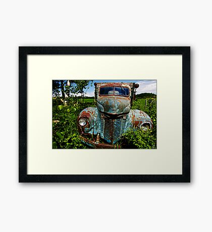 A Colorful Retirement Framed Print