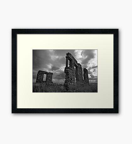 Prairie Stonehenge #1 Framed Print