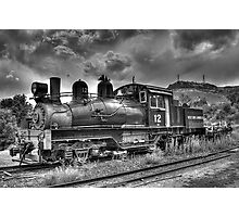 Shay Locomotive No. 12 B&W Photographic Print