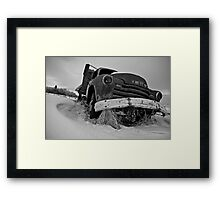 Antique Decaying GMC Truck Framed Print