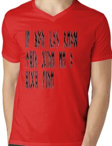 If you can read this give me a high five Mens V-Neck T-Shirt
