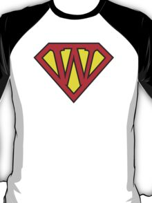 W letter in Superman style T-Shirt