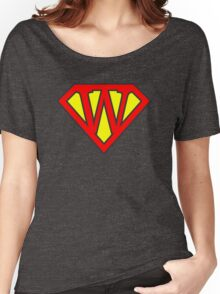 W letter in Superman style Women's Relaxed Fit T-Shirt