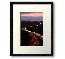Burton Road Bridge Light Trails Framed Print