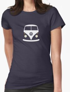 Volkswagen Split Bus (Minimal) Womens Fitted T-Shirt