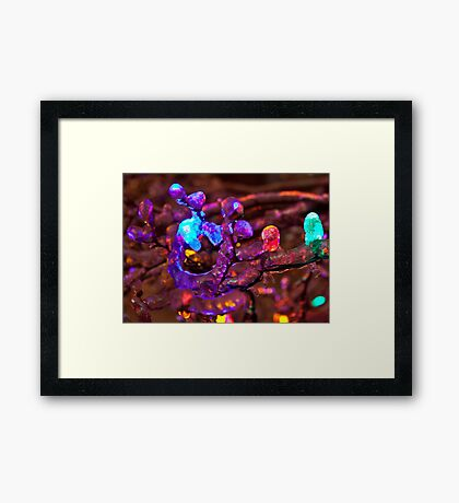 Coloured Ice! Framed Print