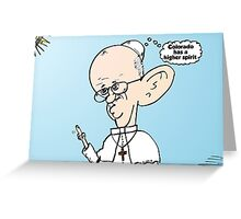 Colorado on the mind of Pope Francis webcomic Greeting Card
