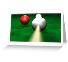 Billiards Greeting Card