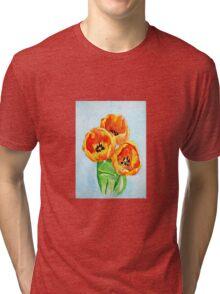 Beautiful Tulips Tri-blend T-Shirt
