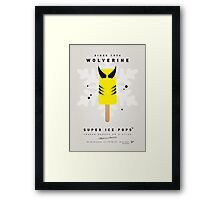 My SUPERHERO ICE POP - Wolverine Framed Print