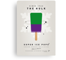 My SUPERHERO ICE POP - The Hulk Canvas Print