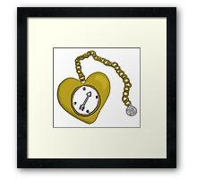 Follow Your Heart of Gold Framed Print