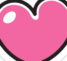 Pink cartoon heart sticker collection Sticker