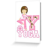 Yoga Girl Greeting Card