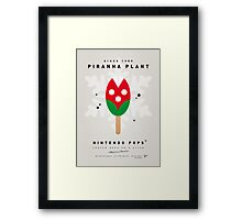My NINTENDO ICE POP - Piranha Plant Framed Print