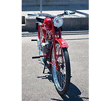 Moto Guzzi vintage motorcycle Photographic Print