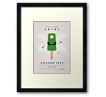 My NINTENDO ICE POP - Luigi Framed Print