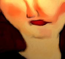 portrait of beatrice hastings Sticker