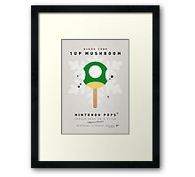 My NINTENDO ICE POP - 1 up Mushroom Framed Print