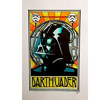 Darth Vader Art Nouveau Photographic Print