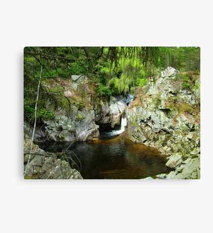 A pool on the Bruar Walk Canvas Print