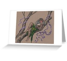 Tattooed Tree Elf - Just Hanging Around Greeting Card