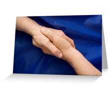 The hand of peace Greeting Card