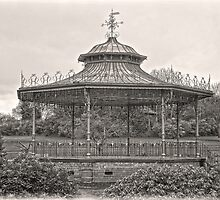 Bandstand in Sepia by DavidWHughes