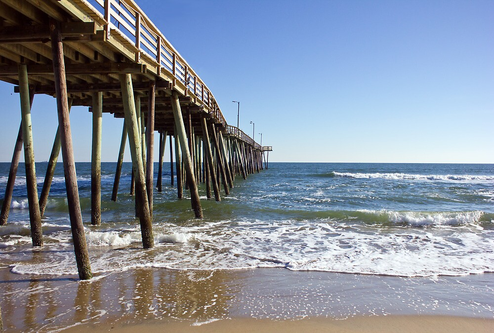 Virginia beach fishing pier by ryan mingin redbubble for Fishing piers in va