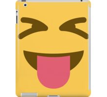 Face with stuck out tongue and tightly closed eyes iPad Case/Skin
