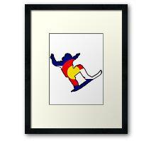 Colorado Flag Snowboarder Framed Print