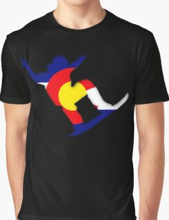 Colorado Flag Snowboarder Graphic T-Shirt