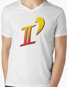 Street Fighter II DASH logo tee Mens V-Neck T-Shirt