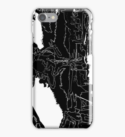 The End Black White Outline iPhone Case/Skin