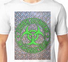 ZORT green on diamond plate Unisex T-Shirt