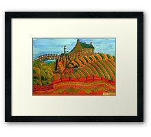 397 - SEATON SLUICE - 04 - DAVE EDWARDS - WATERCOLOUR - 2014 Framed Print