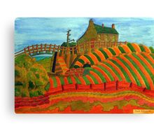 397 - SEATON SLUICE - 04 - DAVE EDWARDS - WATERCOLOUR - 2014 Canvas Print